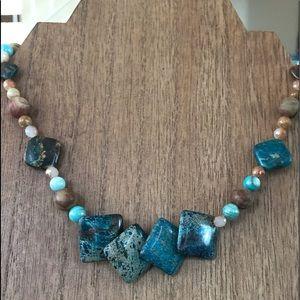 NEW! Beautiful genuine jasper necklace